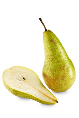 One and half green pears