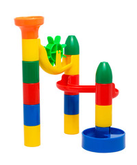 Plastic children's toy slide for marbles