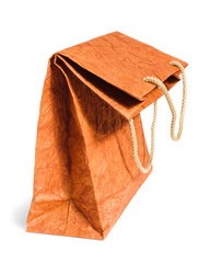 Flexed brown paper bag