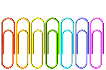 Colored paper-clips set