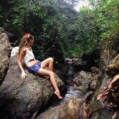 rock-climbing girl