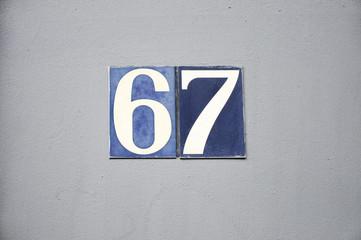 Hausnummer 67