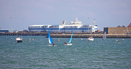 boats in Portland harbour