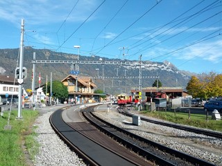 Wilderswil railway station Switzerland