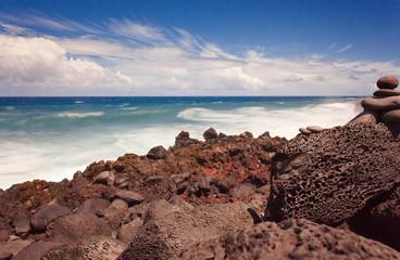 paysage sauvage sud, île de la Réunion