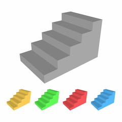 Stairs icon set
