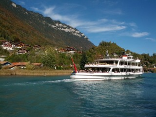 Boat from Interlaken to Brienz Switzerland