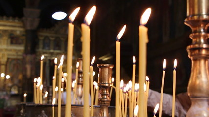 Burning Orthodox candles