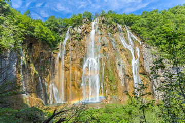 Big waterfall @ Plitvicer Lakes NP,  Croatia