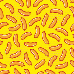 Sausages pattern pop