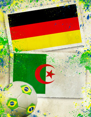 Germany vs Algeria soccer concept