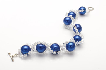 Bracelet with swarovski crystals isolated on the white