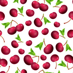 seamless texture of cherry