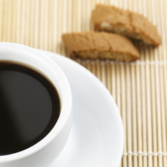 Black Coffee With Biscuits