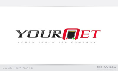 Logo template, isp, net, network, business