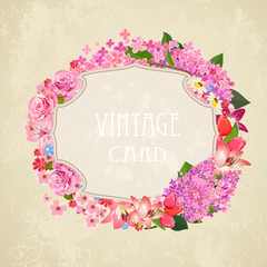 Vintage label for your design