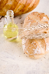 white bread with olive from olives