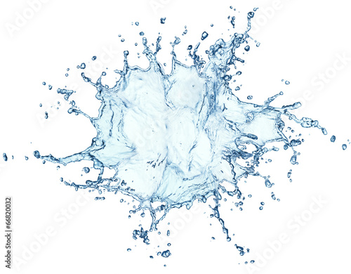 blue water splash isolated - 66820032