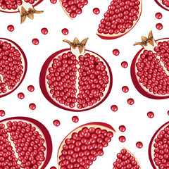 seamless texture of pomegranate