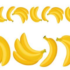 seamless border of banana