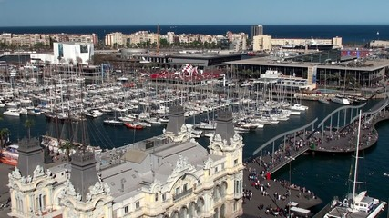 Types of Barcelona. Aerial view of Port Vell