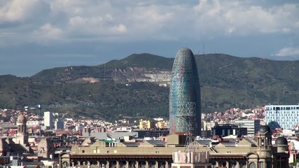 Types of Barcelona. Torre Agbar tower.