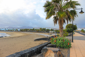 Lanzarote beach on Spanish Canary Island