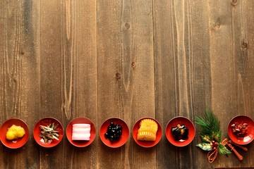 おせち料理と正月飾り