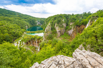 Plitvicer Lakes NP from Vidikovac point #1,  Croatia