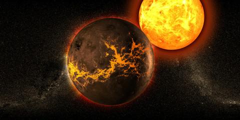Pianeta universo sole galassia sci-fi
