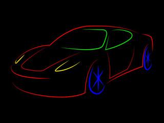 Sportscar Illustration Means Modern Sporty And Design