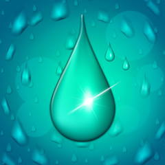 Rain Drop Represents Showers Drip And Wet