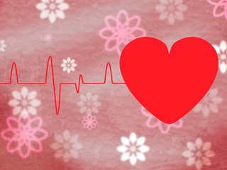 Heart Pulse Means Text Space And Cardiology