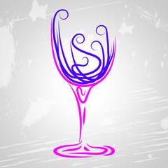 Wine Glass Indicates Beverage Alcoholic And Celebrations