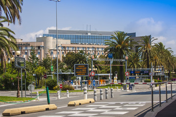 "Nice, France, on July 7, 2011. Airport of Nice of ""Cote d'Azure"""