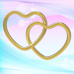 Wedding Rings Represents Heart Shapes And Eternity