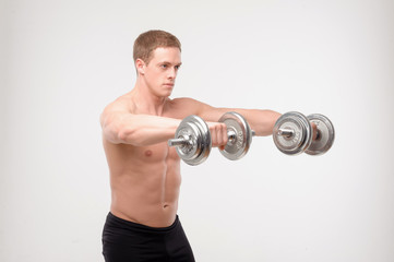 Abdominals with dumbbells