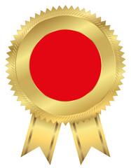 Vignette Gold mit roter Fläche