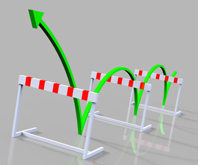 Win Hurdle Represents Overcome Problems And Challenge