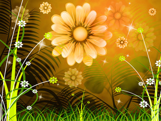 Copyspace Background Means Green Grass And Abstract
