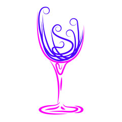 Wine Glass Represents Winetasting Alcoholic And Celebrations