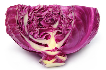 Closeup of red cabbage