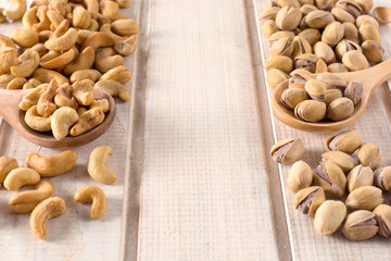 Pistachios and cashew nuts