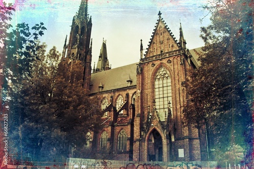 Fototapeta Wrocław city miasto retro vintage