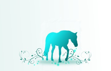 Blue Horse Background