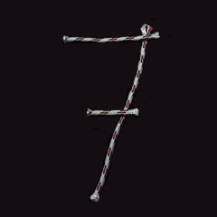 numeral of rope on a black background