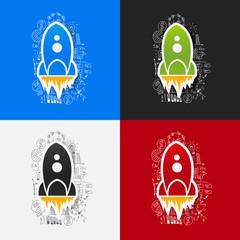 Drawing business formulas: rocket