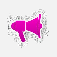Drawing business formulas: megaphone