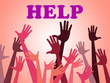 Help Hands Means Assistance Counseling And Question