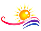 Sun Rays Means Swirling Sunrays And Radiance poster
